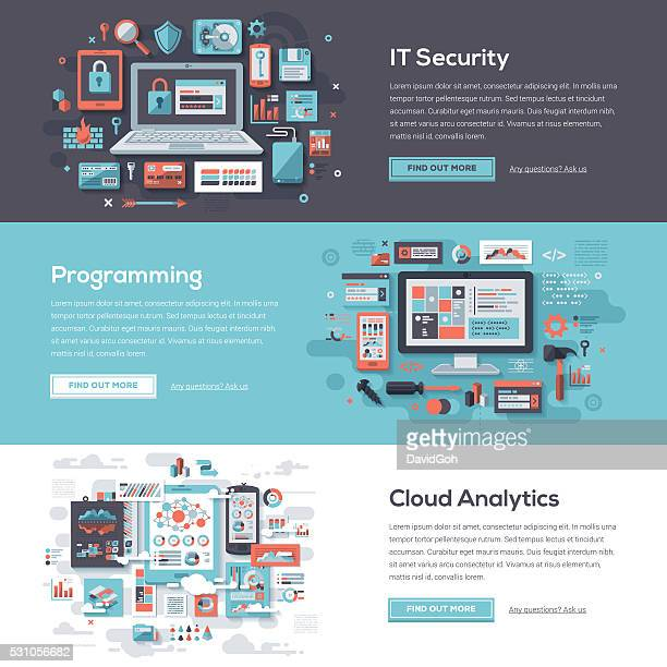 Set di Banner Web tecnologia servizi