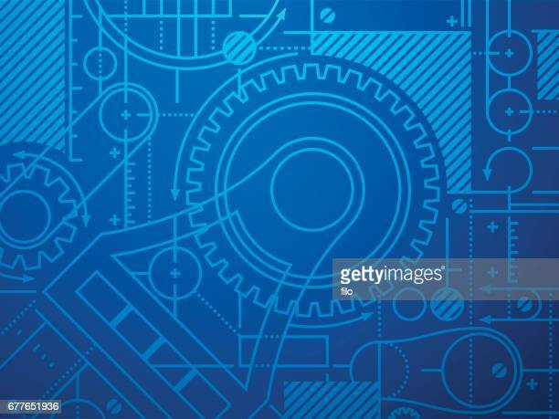 Technical Blueprint Abstract Background