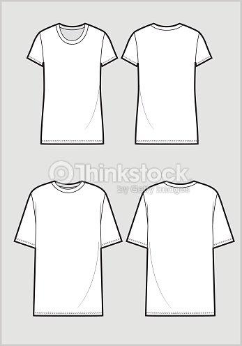 Técnicas de boceto de camiseta blancas   Arte vectorial 64095f2a0a749