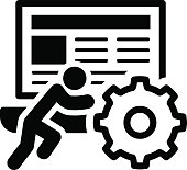 Technical Support Icon. Flat Design. Business Concept. Isolated Illustration