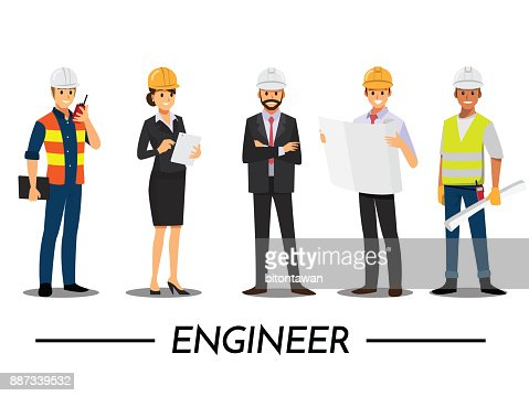 Technician and builders and engineers and mechanics People teamwork ,Vector illustration cartoon character. : stock vector
