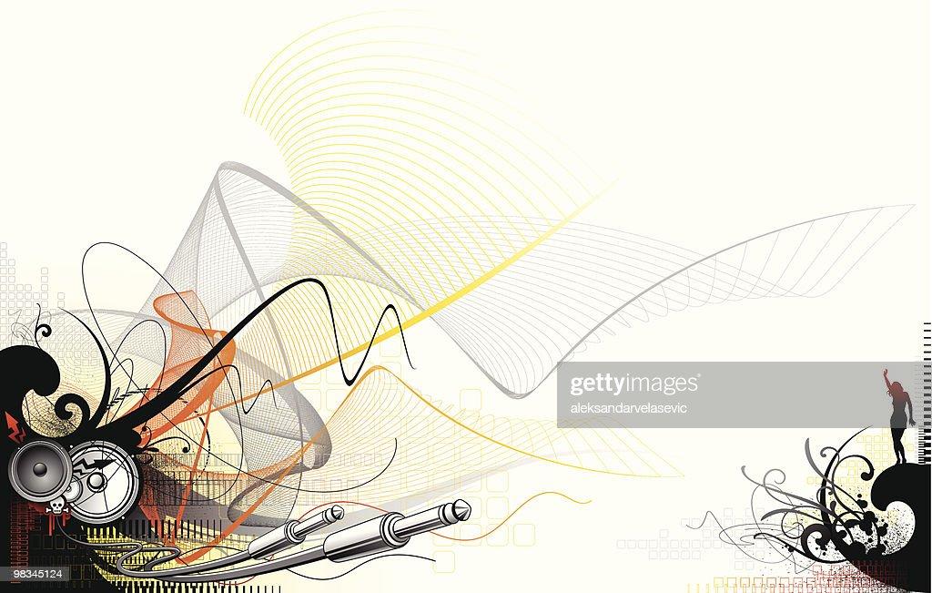 Techno sound : Vector Art