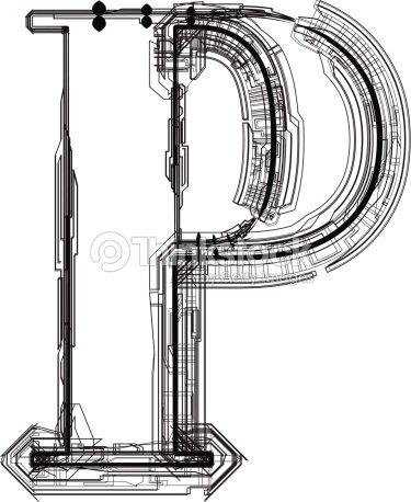 LETTER P Vector Art