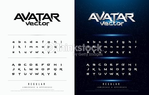 Technology alphabet silver metallic and effect designs for logo, Poster, Invitation. Exclusive Letters Typography regular font digital and sport concept. vector illustrator : stock vector