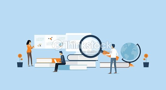 technology business  research and learning  and people business team working  concept : stock vector