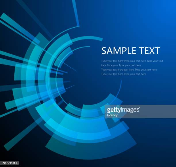 Technology circular background