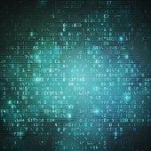 Technology computer digital data code background vector illustration.