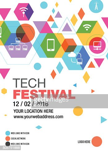 Technology Fest Poster Design Vector Art | Getty Images