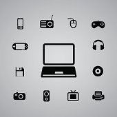 technology icon web set for use
