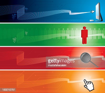 Technology internet banners : Vector Art