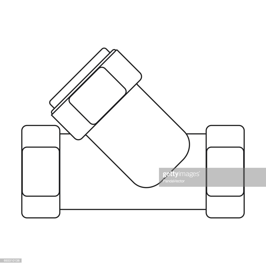 Water Filter Plumbing Diagram Symbol Worksheet And Wiring Piping Symbols Tee Fitting Icon In Outline Style Isolated On White Rh Thinkstockphotos Com Au Blueprint Drawing