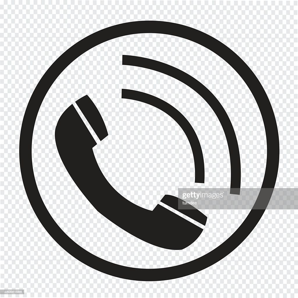 Telephone receiver icon : Vector Art