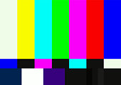 Television color test pattern. SMPTE color bars vector illustration.