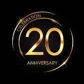 Template 20 Years Anniversary Vector Illustration EPS10
