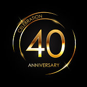 Template 40 Years Anniversary Vector Illustration EPS10