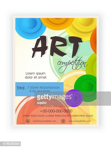 art flyer template
