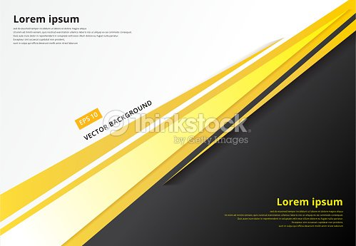Template Corporate Concept Yellow Black Grey And White Contrast Background Vector Graphic Design Ilration