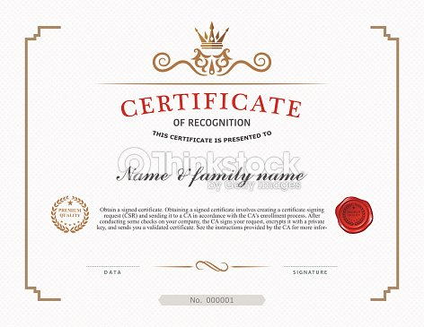 A Template Design For A Certificate Vector Art Thinkstock