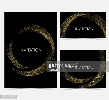 Template design invitations : stock vector