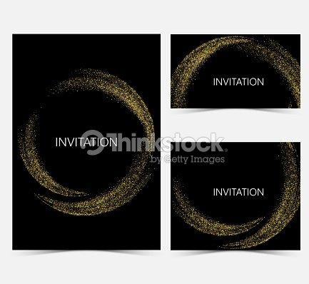 Template design invitations : stock vector