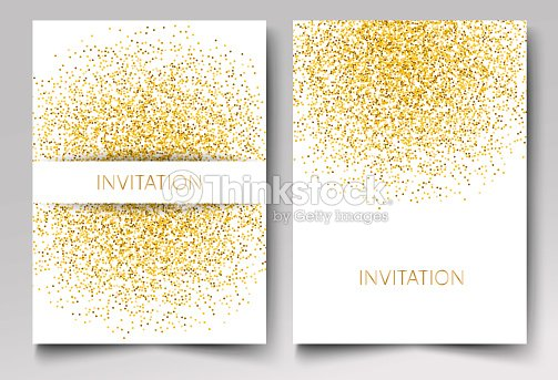 Template design of invitation gold glitter confetti on white template design of invitation gold glitter confetti on white background vector eps10 arte vetorial stopboris Images