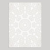 Template for greeting and business cards, brochures, covers with floral motifs. Oriental lace pattern. Lacy mandala. Wedding invitation, save the date,RSVP. Arabic, Islamic, asian, indian, african mot