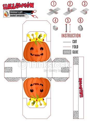 Plantilla Para La Impresión Paquete Infantil Para Halloween Con Una ...