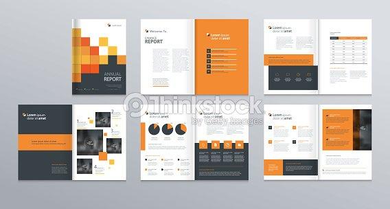 Template Layout-Design mit Deckblatt für Firmenprofil, Geschäftsbericht, Broschüren, Flyer, Präsentationen, Broschüre, Zeitschrift, Buch. und Vektor-a4-Format für bearbeitet werden. : Vektorgrafik