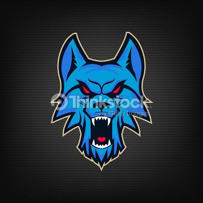 template of emblem with angry wolf head vector art thinkstock