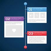 Modern timeline design template. Vector illustration for your design.