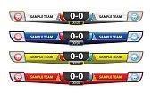 Template scoreboard design elements for sport, vector illustration.