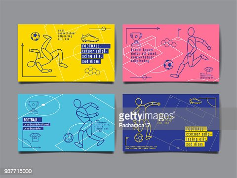 Template Sport Layout Design, Flat Design, single line,  Graphic Illustration, Football, Soccer, Vector Illustration. : stock vector