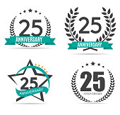 Template symbol 25 Years Anniversary Vector Illustration EPS10