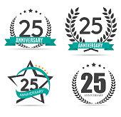 Template symbol 25 Years Anniversary Vector Illustration EPS10