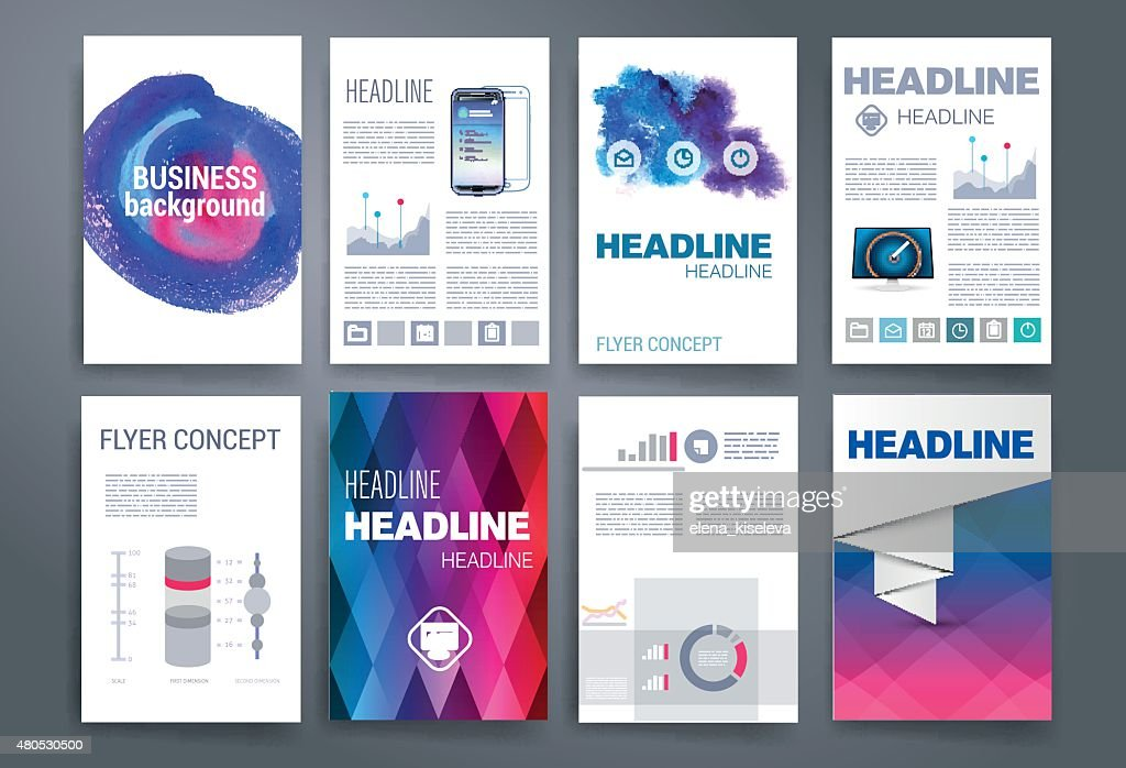 Templates. Design Set of Web, Mail, Brochures. Mobile, Technology, Infographic : Vector Art