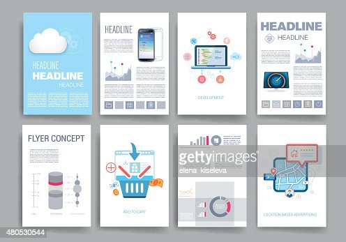 Modelli. Set di Web Design, Mail, Brochure. Mobile, tecnologia, infografica : Arte vettoriale