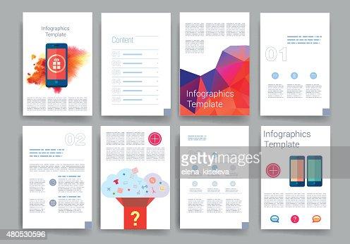 テンプレートます。設計のメール、ウェブ、パンフレット。携帯、テクノロジー、インフォグラフィック : ベクトルアート