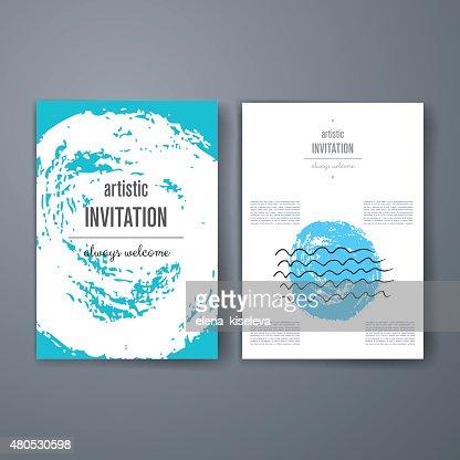 Templates. Design Set of Web, Mail, Brochures. Mobile, Technology, Infographic : Vektorgrafik