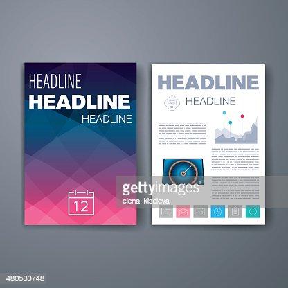 Des modèles. Ensemble de conception de site Web, Brochures, de courrier. Mobile, de la technologie, infographie : Clipart vectoriel