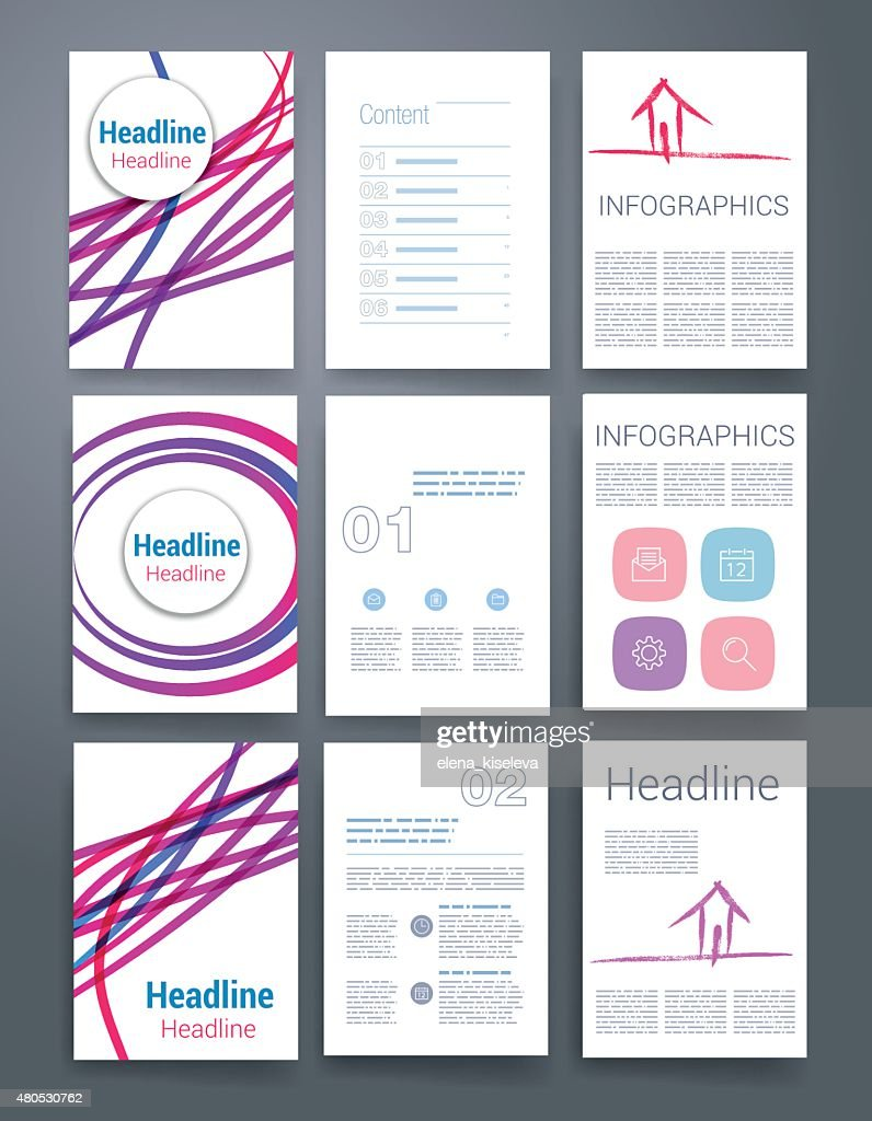 Des modèles. Ensemble de conception de site Web, Brochures, de courrier. Mobile, de la technologie, infographie : Clipart vectoriel