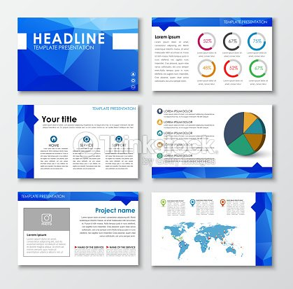 templates polygonal slides for presentations ベクトルアート thinkstock