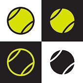 green and black color tennis balls