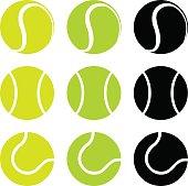 vector illustration of tennis balls