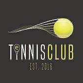 Tennis club vector emblem. Design element. Concept illustration