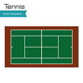 tennis court top view design vector illustration eps 10