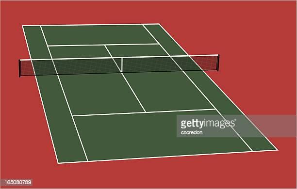 Getty images for Taille d un terrain de tennis
