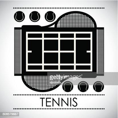 tennis design : Arte vettoriale