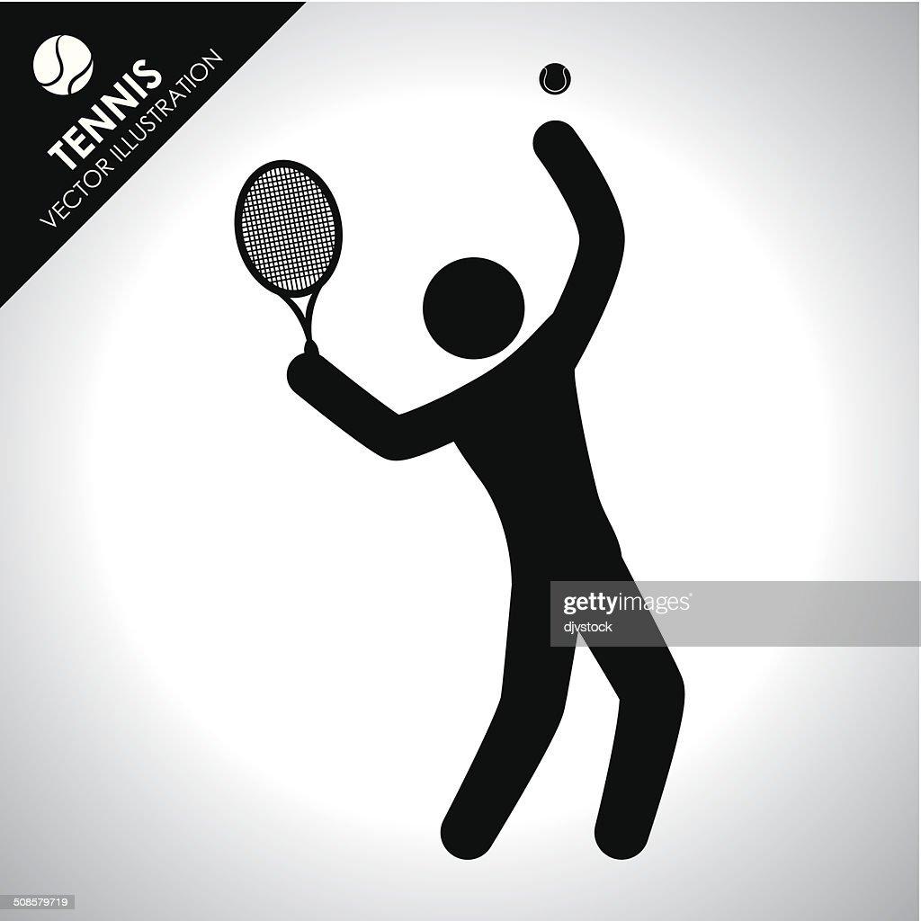 tennis design : Vector Art
