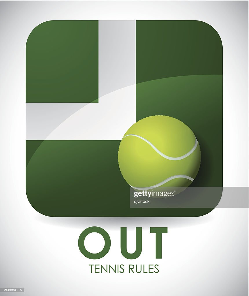 tennis design : Vectorkunst