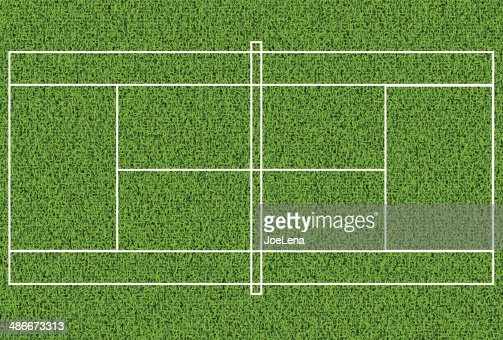 Lawn tennis court top view
